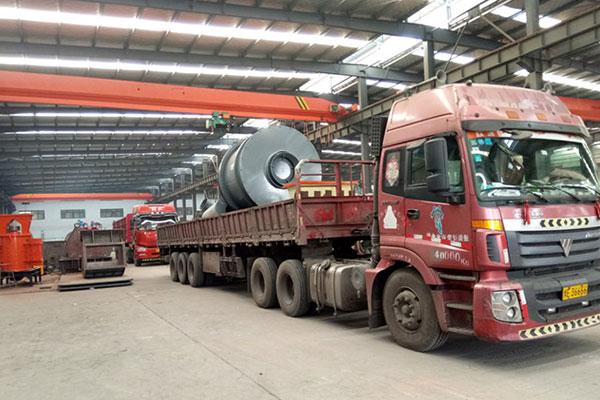 时产5吨沙子烘干机生产线设备发货广西